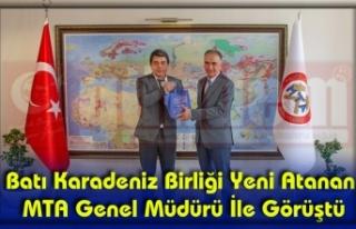 MTA Genel Müdürü Erdoğan'ı Makamında Ziyaret...