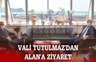 VALİ TUTULMAZ'DAN ALAN'A ZİYARET
