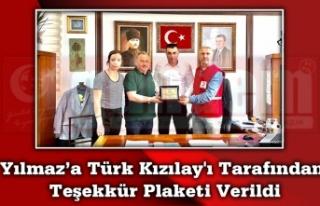 Yılmaz'a Türk Kızılay'ı Tarafından Teşekkür...