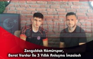 Zonguldak Kömürspor, Berat Vardar İle 3 Yıllık...