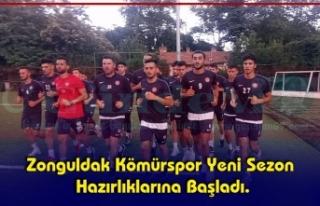 Zonguldak Kömürspor Yeni Sezon Hazırlıklarına...