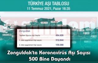 Zonguldak'ta Koronavirüs Aşı Sayısı 500...