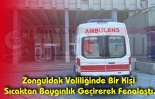 Zonguldak Valiliğinde Bir Kişi Sıcaktan Baygınlık...