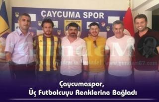 Çaycumaspor, Üç Futbolcuyu Renklerine Bağladı