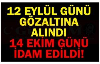 12 EYLÜL GÜNÜ GÖZALTINA ALINDI 14 EKİM GÜNÜ...