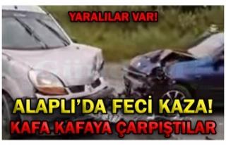 ALAPLI'DA FECİ KAZA!
