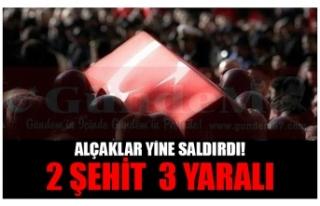 ALÇAKLAR YİNE SALDIRDI! 2 ŞEHİT  3 YARALI