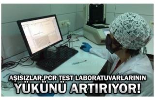 AŞISIZLAR,PCR TEST LABORATUVARLARININ YÜKÜNÜ ARTIRIYOR!