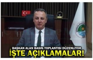 BAŞKAN ALAN BASIN TOPLANTISI DÜZENLİYOR İŞTE...