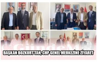 BAŞKAN BOZKURT'TAN, CHP GENEL MERKEZİNE ZİYARET