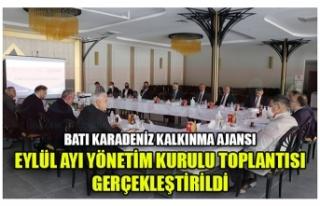 BATI KARADENİZ KALKINMA AJANSI EYLÜL AYI YÖNETİM...