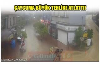 ÇAYCUMA BÜYÜK TEHLİKE ATLATI!