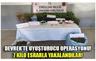 DEVREK'TE UYUŞTURUCU OPERASYONU! 7 KİLO ESRARLA...