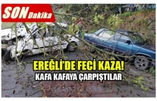 EREĞLİ'DE FECİ KAZA! KAFA KAFAYA ÇARPIŞTILAR