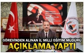 GÖREVİNDEN ALINAN İL MİLLİ EĞİTİM MÜDÜRÜ...