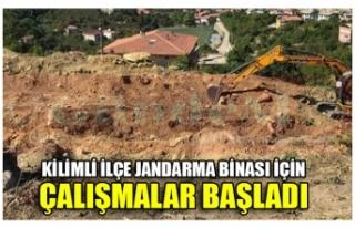 KİLİMLİ İLÇE JANDARMA BİNASI İÇİN ÇALIŞMALAR...