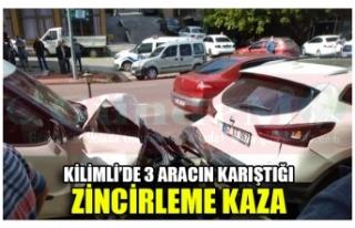 KİLİMLİ'DE 3 ARACIN KARIŞTIĞI ZİNCİRLEME...
