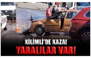 KİLİMLİ'DE KAZA! YARALILAR VAR!