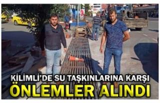 KİLİMLİ'DE SU TAŞKINLARINA KARŞI ÖNLEMLER...