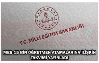MEB 15 BİN ÖĞRETMEN ATAMALARINA İLİŞKİN TAKVİMİ...