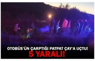 OTOBÜS'ÜN ÇARPTIĞI PATPAT ÇAY'A UÇTU! 5...