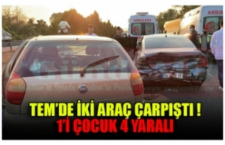 TEM'DE İKİ ARAÇ ÇARPIŞTI ! 1'İ ÇOCUK 4...