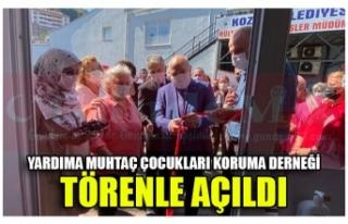YARDIMA MUHTAÇ ÇOCUKLARI KORUMA DERNEĞİ TÖRENLE...