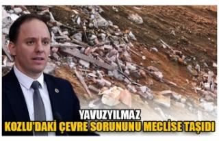 YAVUZYILMAZ KOZLU'DAKİ ÇEVRE SORUNUNU MECLİSE...