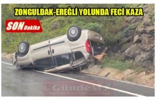 ZONGULDAK-EREĞLİ YOLUNDA FECİ KAZA