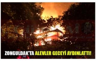 ZONGULDAK'TA ALEVLER GECEYİ AYDINLATTI!