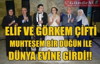 ELİF VE GÖRKEM ÇİFTİ MUHTEŞEM BİR DÜĞÜN...