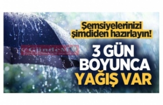 Şemsiyelerinizi şimdiden hazırlayın! Zonguldak'da...