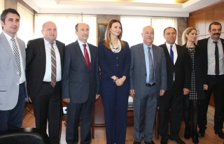 Azeri milletvekili Paşayeva Başkan Akdemir´i...