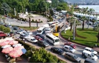 Ereğli´de trafik felç,Sürücüler tepkili