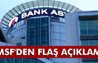 TMSF´den flaş Bank Asya açıklaması