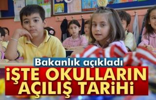 Okullar 19 Eylül´de açılacak