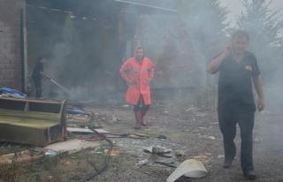 Yangın mahalleliyi korkuttu