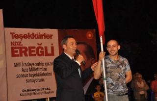 Demokrasi nöbetinin 20. gecesinde Hacı kafilesi...