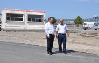 Başkan Uysal, asfalt çalışmalarını inceledi