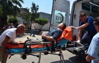 Spiral makinesiyle ayağından yaralandı