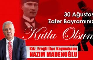 Kdz. Ereğli İlçe Kaymakamı Nazım Madenoğlu 30...