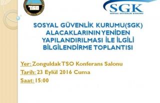 ZTSO ve SGK Zonguldak il müdürlüğü bilgilendirme...