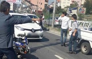 Ereğli´de motosikletli zabıtalar kazada yaralandı