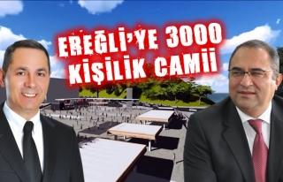 Kdz. Ereğli'de kent meydanına 3 bin kişilik Camii...