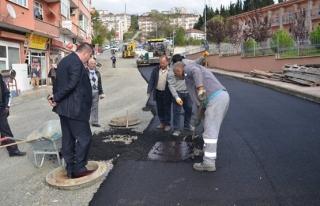 Alaplı Belediyesi asfaltlama çalışmalarını sürdürüyor