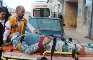Dengesini kaybedip yere düşen işçi hastaneye kaldırıldı