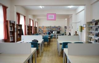 Yabancı Diller Yüksekokulu kütüphanesi yenilendi
