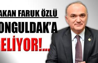 Bakan Faruk Özlü Zonguldak'a gelecek