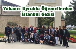 Yabancı uyruklu öğrencilerden İstanbul gezisi