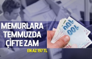 Memura en az 197 lira zam!